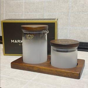 Market Street Sugar Bowl, Creamer and Tray Set